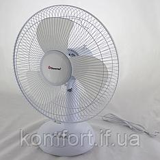 Настільний вентилятор Domotec MS-1626 Fan, 3 режими, 40 Вт, 43 см Білий