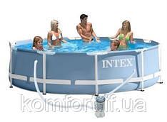 Круглий каркасний басейн Metal Frame Pool Intex 28712 (Интекс 28212)