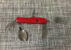 Набір туристичний, виделка, ложка, ніж, відкривачка / 5560