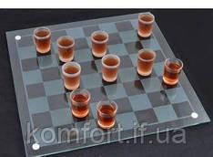 Алкогольная игра шашки - рюмки №085м (40х40см)