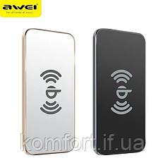 Беспроводное зарядное устройство AWEI W1 + WIRELESS CHARGE, супер тонкое портативное зарядное устройство