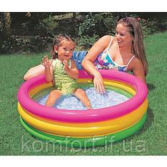 Дитячий надувний басейн Intex 58924 веселка