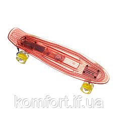 Пенниборд-скейт 850, Светящаяся дека, колёса PU СВЕТЯЩИЕСЯ