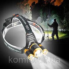 Налобний ліхтарик RJ3000-T6