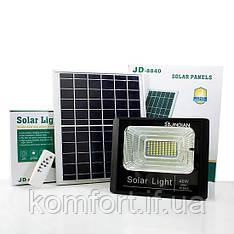 Прожектор Jindian JD-8840 40W SMD, IP67, солнечная батарея, пульт ДУ, встроенный аккумулятор
