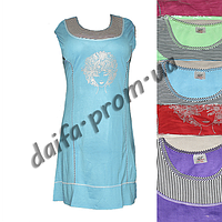 D103. Женская котоновая ночная рубашка  оптом со склада на 7км.