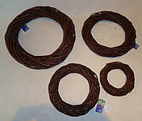 Венок из лозы коричневый 14 см
