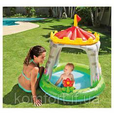 Дитячий надувний басейн интекс 57122 Королівський замок (122X122 СМ)