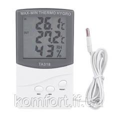 Термометр з гігрометром 318