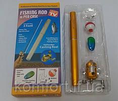 Вудка міні у формі ручки FISHING ROD IN PEN CAS