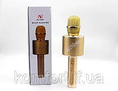 Беспроводной микрофон  караоке Bluetooth DM Karaoke YS 66 + BT Original 5ВТ с мембраной низких частот