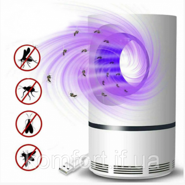 Знищувач комарів та комах Mosquito Killer лампа пастка від USB (W23)