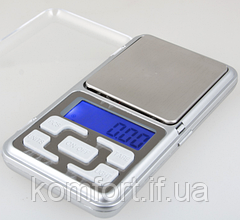 Ваги кишенькові, ювелірні pocket scale mh-100, 100 м, крок - 0,01 г, фото 3