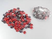 Наполнитель / Стекляшки / 0,5 кг в уп / Кружочки №3 / Рубиновый / Перламутр