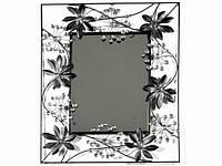 Зеркало / Champagne / Рамка Металл / Листья / Прямоугольное 60x49x2 см