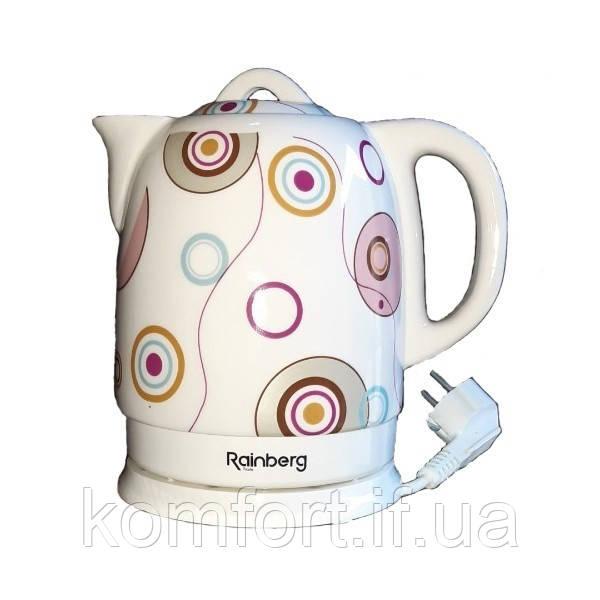 Чайник электрический Rainberg RB-906 керамический, дисковый,1500 Вт, 1.8 литра