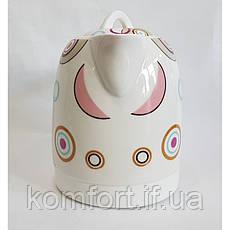 Чайник электрический Rainberg RB-906 керамический, дисковый,1500 Вт, 1.8 литра, фото 3