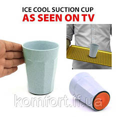 Стакан с присоской suction cup