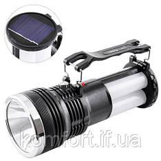 Акумуляторний ліхтарик з сонячною панеллю YJ-2881T