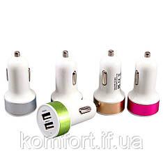 Автомобільний зарядний пристрій в прикурювач на 2 USB CH135P