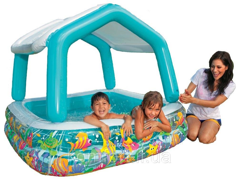 Дитячий надувний басейн Intex 57470 Акваріум