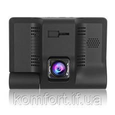"""Автомобільний відеореєстратор на 3 камери C9, LCD 4"""", WDR, 1080P Full HD, фото 2"""
