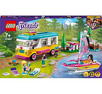 Лего Lego Friends Лесной дом на колесах и парусная лодка 41681