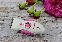 Женский эпилятор Nikai 7698 3 in 1 с 3 сменными насадками и фонариком, фото 2