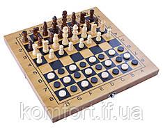 Игровой набор №3517B 3в1 нарды, шахматы и шашки (34х34 см)