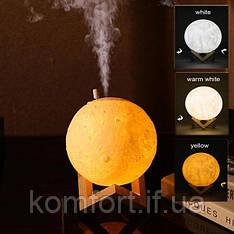 Настольный светильник ночник луна 3D с увлажнителем воздуха