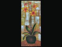 Цветы / Картина 40x18x1 см