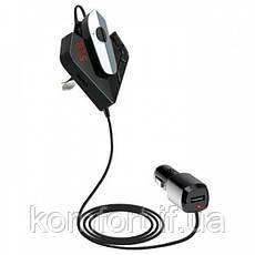 Автомобильный трансмиттер FM модулятор V11 BT +earphone, Bluetooth fm-передатчик, MP3-плеер и USB зарядное, фото 2