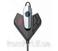 Автомобильный трансмиттер FM модулятор V11 BT +earphone, Bluetooth fm-передатчик, MP3-плеер и USB зарядное, фото 3