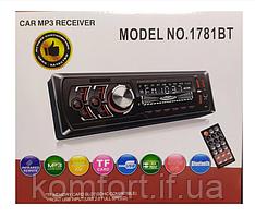Автомагнітола 1DIN MP3 1781BT (1USB, 2USB-зарядка, TF card, bluetooth)