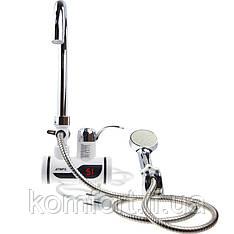 Мгновенный проточный водонагреватель с душем и дисплеем (боковое подключение)