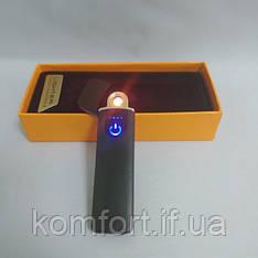 Зажигалка спиральная электрическая USB ZGP 4 Чёрная