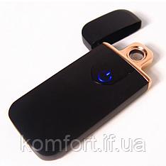 Спиральная электрическая USB зажигалка ZGP 5 Чёрная