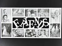 Белая Friends / Фоторамка Коллаж 72x37x2 см