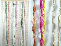 Солома / Узелки / Разные цвета / Занавеска на дверь / Природные материалы 185x90 см
