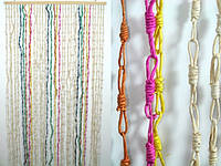 Занавеска на дверь / Природные материалы / Солома / Узелки / Разные цвета 185x90 см
