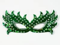 Симметрия Зеленая 6 шт в уп / Маска новогодняя 20x10 см