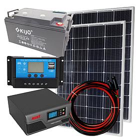 """Комплект солнечной автономной станции """"Холодильник на даче-3"""" 200 Вт, инвертор MUST EP20-1000 PRO чистый синус"""