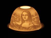 Картина Мона Лиза / Подсвечник Фарфор 11x11x8 см