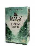 """Чай зелёный листовой James Grandfather """"Зелёный"""", 100 гр. карт."""