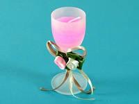 Свеча / Бокал / Бокал Шампанское / Розовая 9x4x4 см