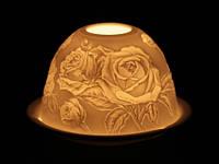 Подсвечник / Фарфор / Цветы Роза 11x11x8 см