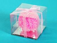 Свеча / Шар / Розочки / Розовая / 1 шт 5x5x5 см