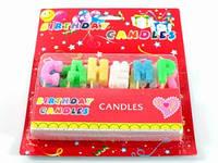 Свечи в торт / С днем рождения / Буквы 2x2 см