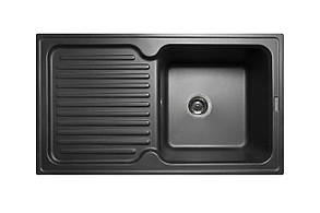 Кухонна мийка гранітна MIRAGGIO ORLEAN black