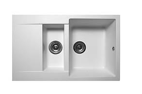 Кухонна мийка гранітна MIRAGGIO LAPAS white